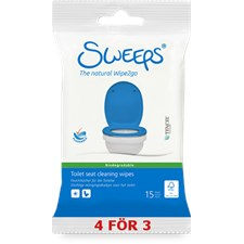 Sweeps® Toilet seat cleaning wipes, 15st