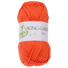 Viking of Norway Vår Garn Bomull 50g Orange 451