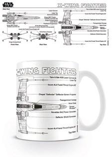 Star Wars Mugg X-vinge Ritning