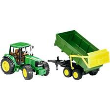 Traktor John Deere 6920 med tilhenger, 1:20, Bruder