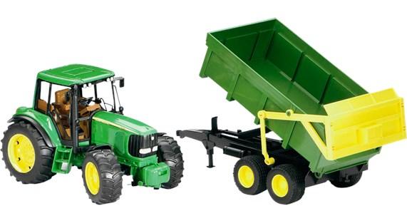 Traktor John Deere 6920 med tippsläp  1 20  Bruder - uteleksaker & sportleksaker