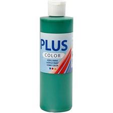 Plus Color-askartelumaali, 250 ml, briljantin vihreä