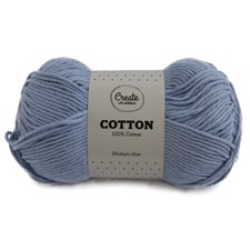 Adlibris Bomull Garn 100g Medium Blue A089