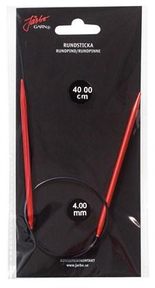 Rundstickor 40 cm/4,0 mm Röd 1 st