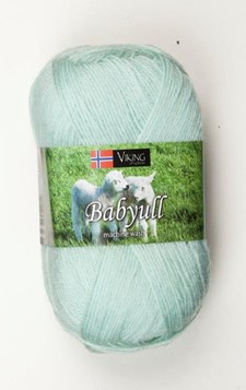 Viking of Norway Baby Ull 50 gr Mintgrønn 327