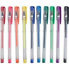 Gel kulepenn, strektykkelse: 0,8 mm, ass. Farger, 10ass.