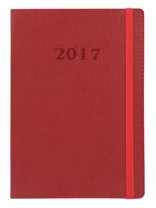 Kalenteri A5 2017 Letts Novel viikkoaukeama pystysuora punainen