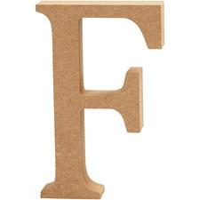 Bokstav, H: 13 cm, tykkelse 2 cm, 1 stk., MDF