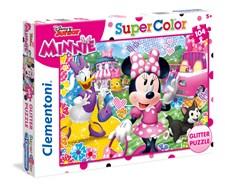 Pussel Minnie Glitter, 104 bitar, Clementoni
