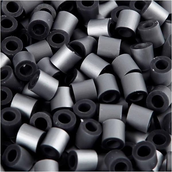 Rörpärlor, stl. 5x5 mm, hålstl. 2,5 mm, 1100 st., silver