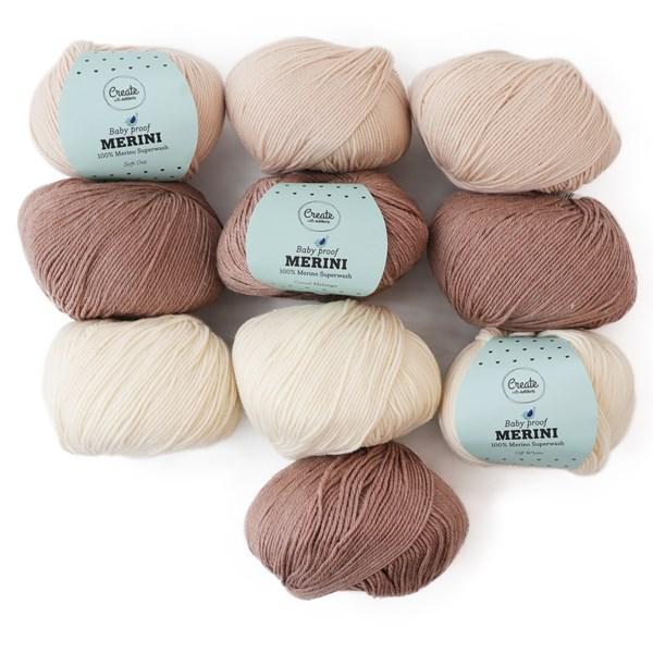 Color Pack Adlibris Merini Garn 50g Teddy Bear Mix 10-pack