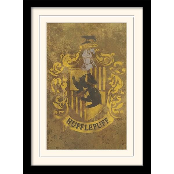 Harry Potter Inramad Poster Hufflepuff Crest  Pyramid International