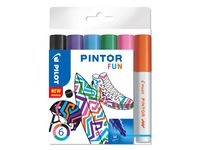 Pintor DIY-tusjer 6 stk. Ass Fun Mix - Medium