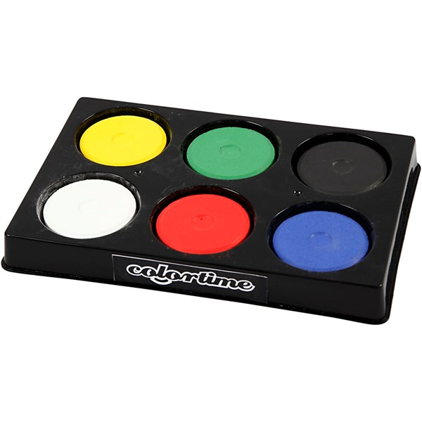 Vattenfärg Palett dia 44 mm Primärfärger 6 st