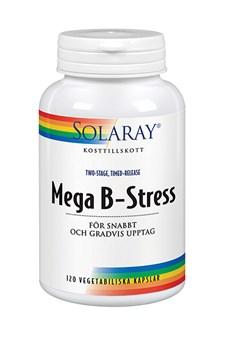 Solaray Mega B-Stress, 120 kapslar