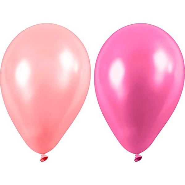 Ballonger, rosa, dia. 23 cm, 10st.