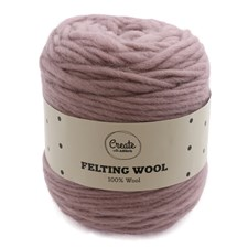 Adlibris Felting Wool 100g Dusty Pink A008