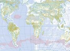 Decoupagepapper 30x42 cm Världskarta 1 Ark