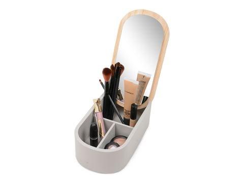 Form Living Sminkspegel med box 25x13x8 cm Grå - badrumsaccessoarer