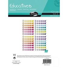 Educatives, Pakke 20 ark 16 x 21cm, Evaluering, 3360 klistremerker