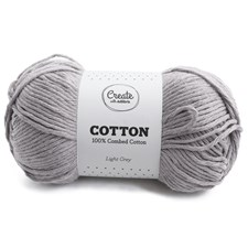 Adlibris, Bomull, 8/9 Garn, 100 g, Light Grey A183