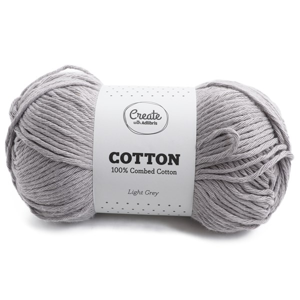 Adlibris Cotton 8/9 lanka 100g Light Grey A183