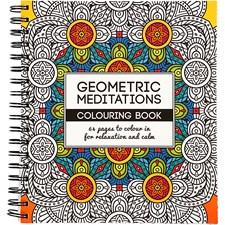 Målarbok Antistress Geometric Meditations, 64sidor