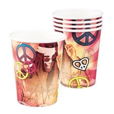 Pappkopper Hippie 60-tall 6-pakning