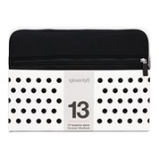"13"" NEOPRENE 19TWENTY8 SLEEVE BLACK WITH POCKET"