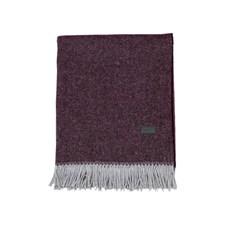 GANT Home Oxford Pläd Återvunnen Bomull/Lammul/Polyamid 130x180 cm Purple Fig