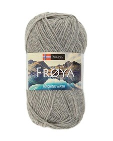 Viking of Norway Froya Garn Ullmix 50g Ljusgrå 203