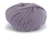 Knit At Home Chunky Alpaca Wool Garn Alpacka Ull Mix 50 g Grå Lavendel 611