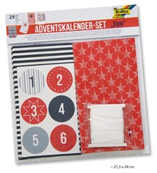 Adventskalender set i papper style