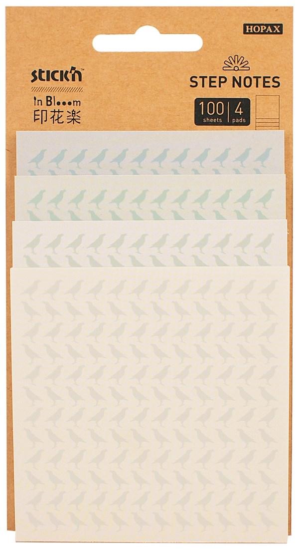 Step Notes Stick'n In Blooom Birds 4x25blad