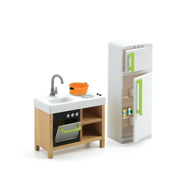 Kompakt kök  Dockskåp  Djeco - dockskåp & tillbehör