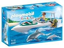 Dyktur med snabb motorbåt, Playmobil Family Fun (6981)