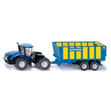 Siku 1947 New Holland T9.560 traktori ja rehukärry 1:50