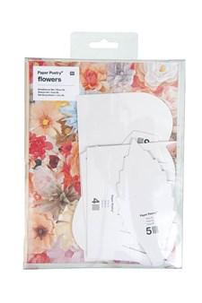 Pappersblommor Ros XL 5 st