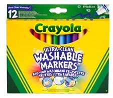 Tuschpenna Tvättbar Jumbo Crayola 12-pack
