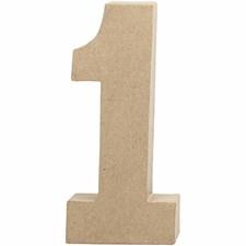 Numero 1, kork. 20,5 cm, paksuus 2,5 cm, 1 kpl