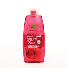 Dr Organic Rose Otto Body Wash 250ml