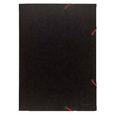 Gummibåndmappe 3-klaffer 380 g A3 svart