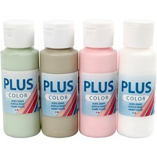 Plus Color askartelumaali, 4x60 ml