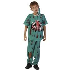 Zombie Doktor Maskeraddräkt Barn (122-134)