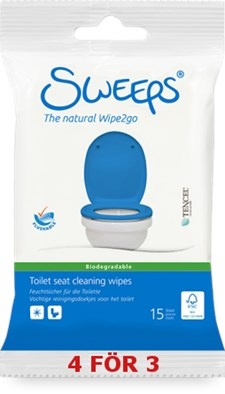 Sweeps® Refreshing wipes, 15st