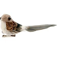 Lintu, kork. 3,4 cm, lev. 8 cm, 4 kpl, luonnonrusk.