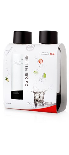 Aqvia Pet Flaska 2-pack 0.5 L Svart
