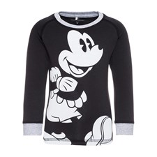 Långärmad tröja Mickey Mouse, Svart, Name it