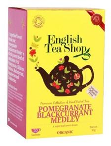 English Tea Shop Te Granatäpple & Svart vinbär Tepåsar 20 st