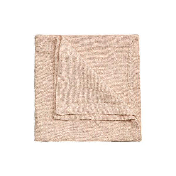 Linum Hedvig Servett Linne Bomull 45 x 45 cm Dusty rosa
